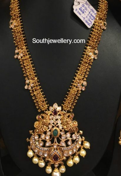 antique-gold-haram-peacock-pacchi-pendant