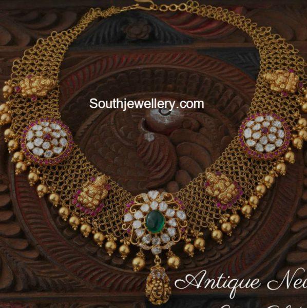 Antique Gold Links Necklace