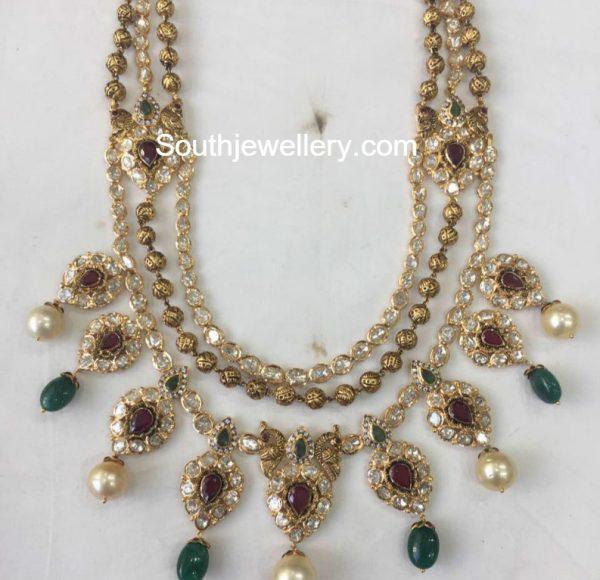 Antique Gold Step Necklace