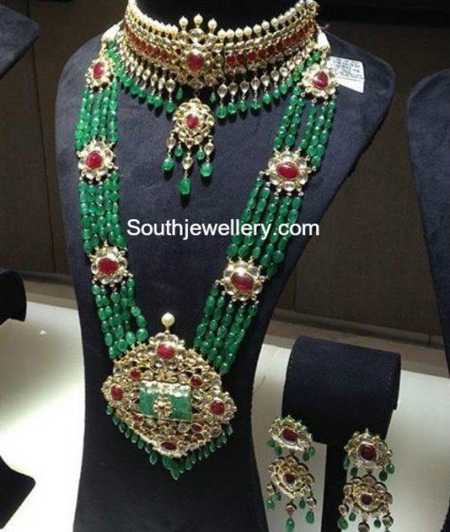 polki-choker-emerald-beads-haram