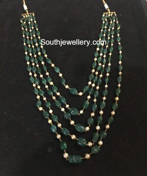 Layered Emerald Beads Mala
