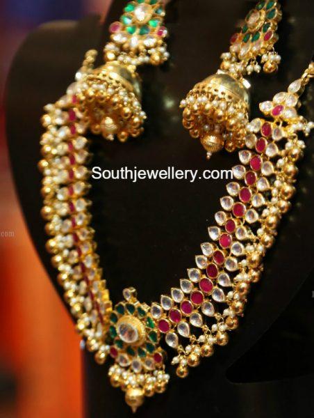 Kundan Necklace and Jhumkas
