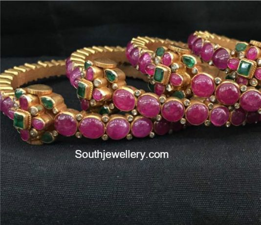 diamond indian bangle bangles antique and manufacturer std natural india of fancy ruby color bracelet jewellery