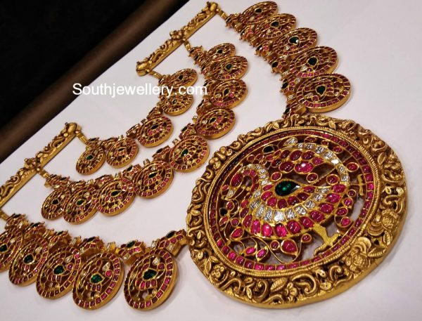 three-step-kundan-peacock-haram