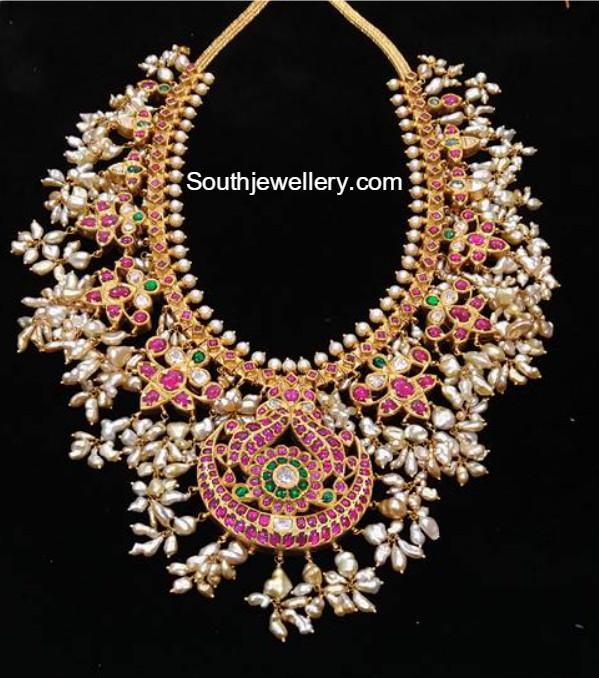Kundan Guttapusalu Necklace Jewellery Designs