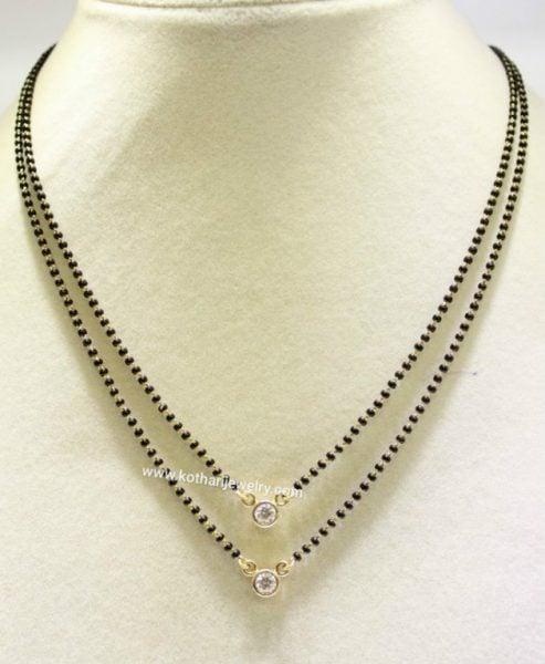 black-beads-chain-diamond-pendant