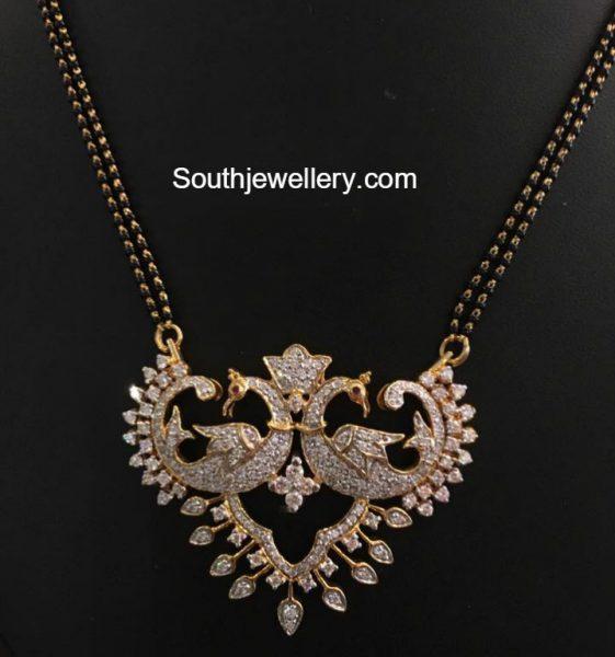 black-beads-mangalsutra-peacock-pendant