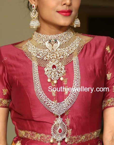 Bridal Diamond Jewellery Set by Manepally Jewellers