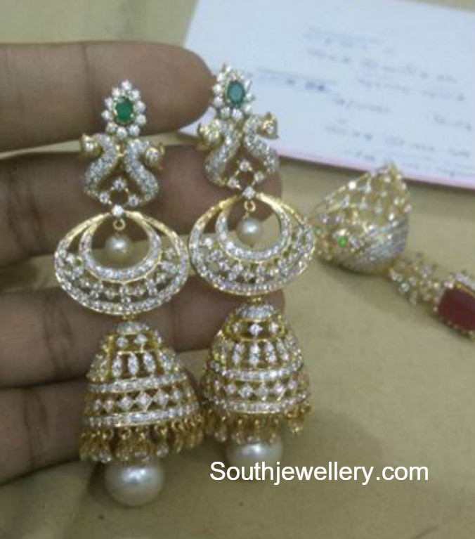 earrings the flower jhumka bluestone aarohi diamond pics com