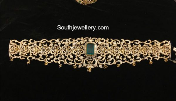 Floral Diamond Waist Belt