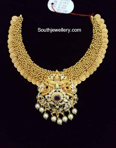 Antique Gold Gajjalu Kasu Necklace