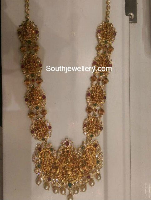 2 In 1 Gold Haram Plus Waist Belt Jewellery Designs