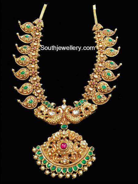 Antique Gold Nakshi Mango Mala