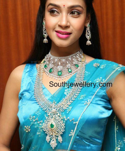 Angana Roy in Diamond Jewellery