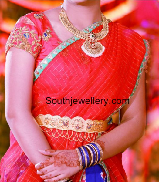 Antique Gold Necklace and Vaddanam