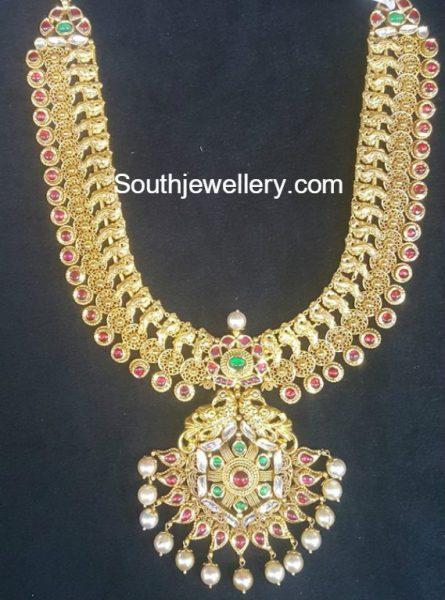 antique-gold-peacock-haram