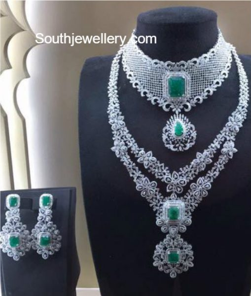 bridal-diamond-necklace-set