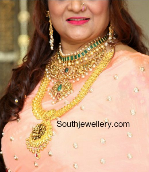 Gold Necklace Models by Amita Solanki