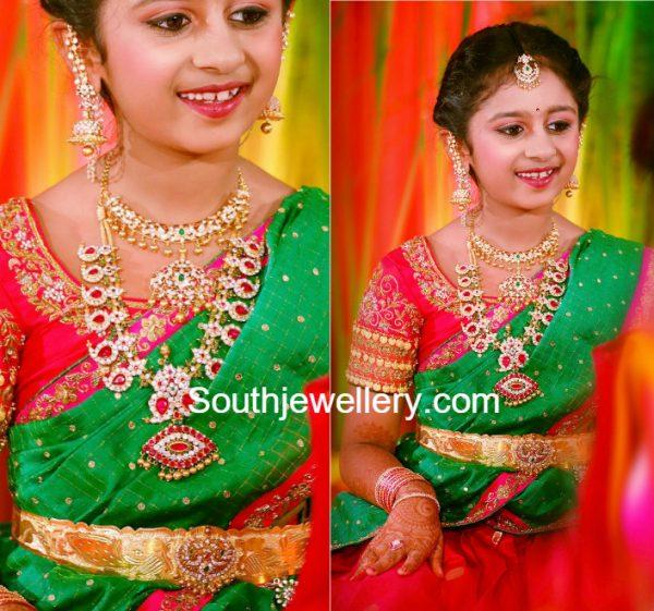 jewellery-designer-swetha-reddy-daughter-half-saree-function-jewellery
