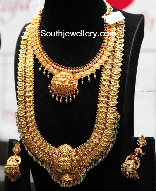 Kasulaperu Necklace And Haram Set Jewellery Designs