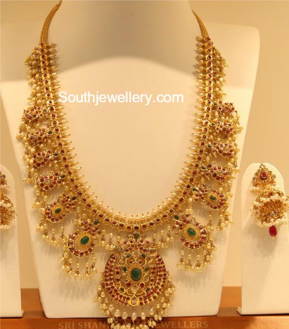Kundan Guttapusalu Haram Jewellery Designs