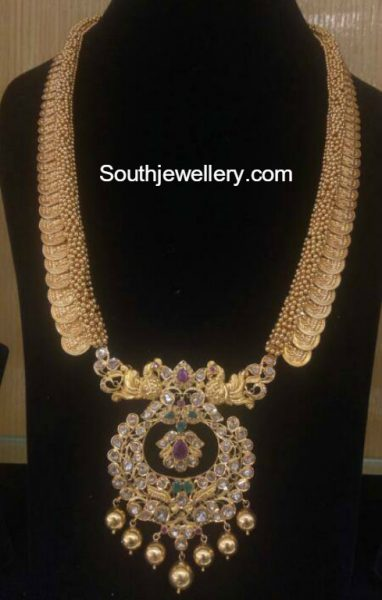 lakshmi-kasu-haram-pacchi-pendant