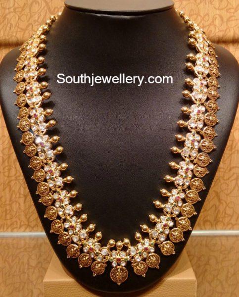 Uncut Diamond Lakshmi Kasu Mala