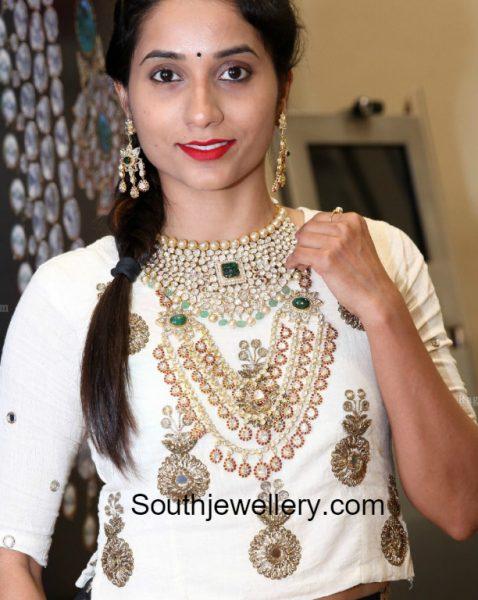 polki-diamond-necklace-haram-pmj-jewels