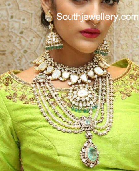 Polki Diamond Jewellery Set by Kalasha Fine Jewels