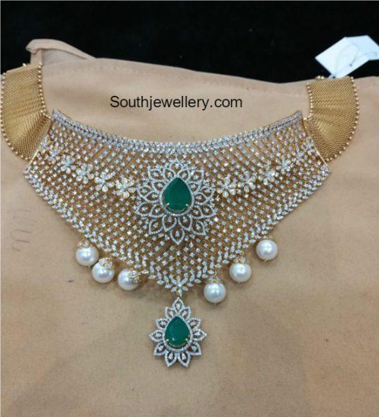 Diamond Emerald Choker