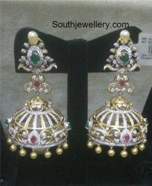 Antique Diamond Jhumkas