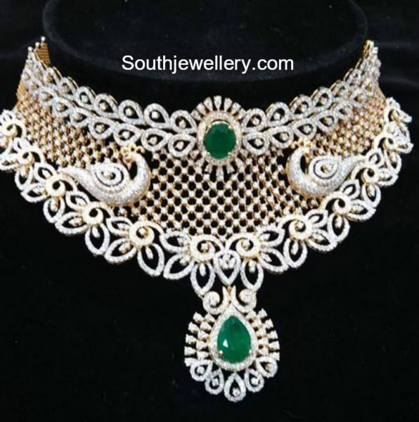 Peacock Diamond Choker