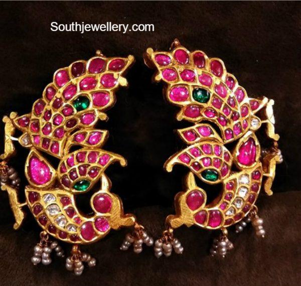 peacock-kundan-earrings
