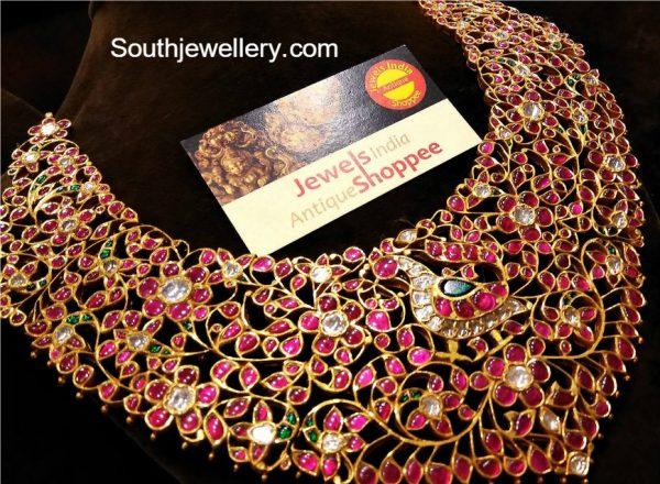Antique Kundan Peacock Necklace