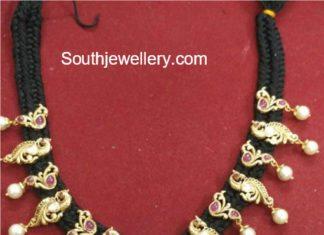 black dori necklace models