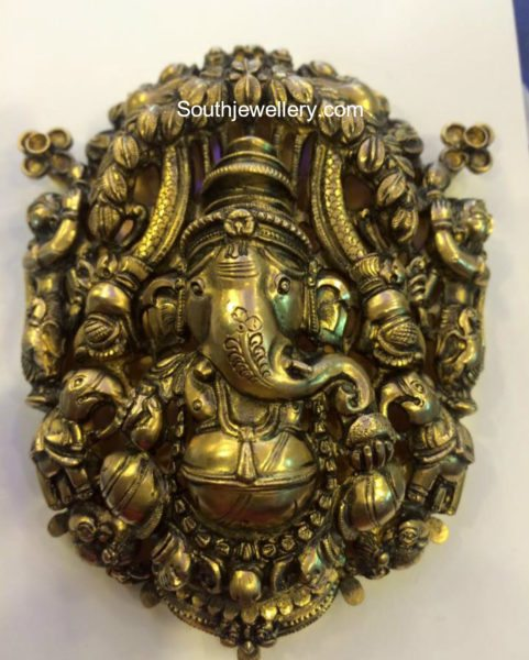 Antique Gold Ganesh Pendant
