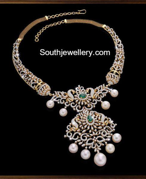 Peacock Diamond Necklace