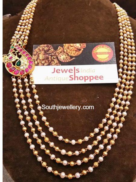 South Sea Pearls Nakshi Balls Mala