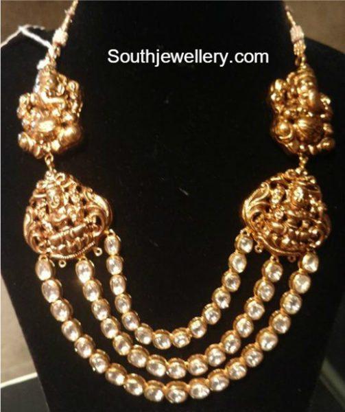 Antique Gold Temple Necklace