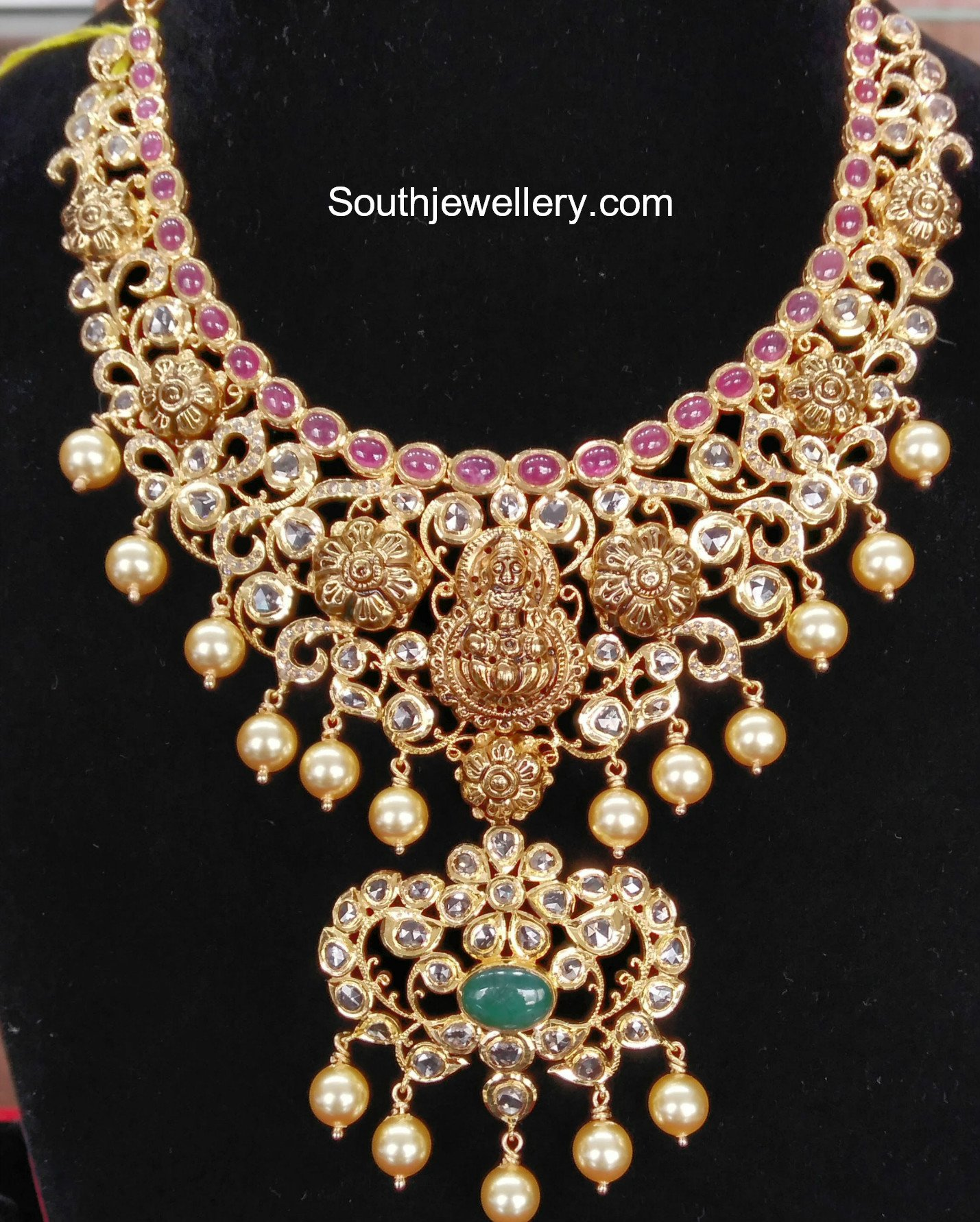 Uncut Diamond Necklace latest jewelry designs Page 8 of 59