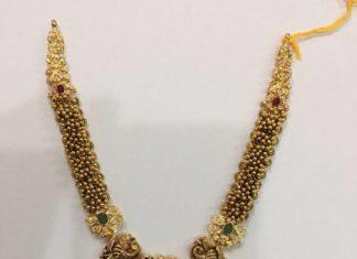antique gold gajjalu haram