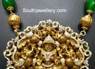 diamond lakshmi pendant