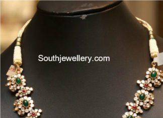 floral uncut necklace