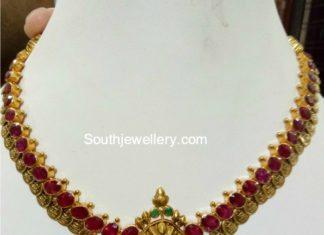 simple ruby kasu necklace