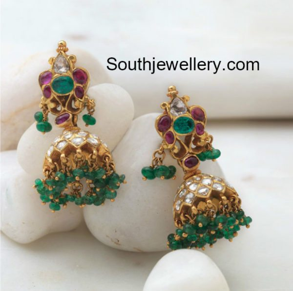 Antique Gold Jhumkis