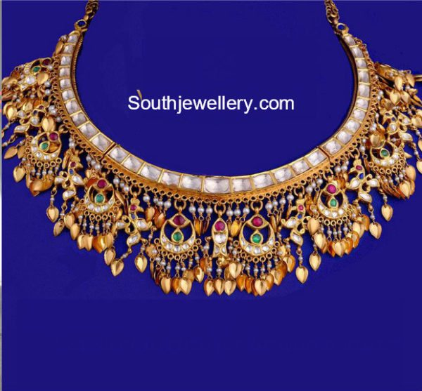 Antique Gold Necklace by Vasundhara