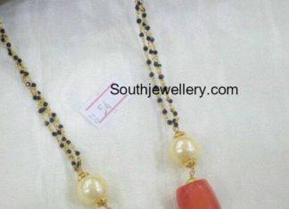 nallapusalu chain with coral beads