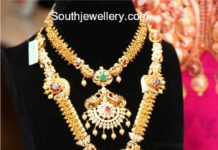 gold necklace haram set