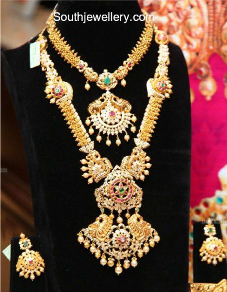 gold necklace haram set