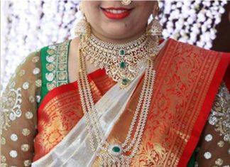 diamond necklace haram vaddanam set